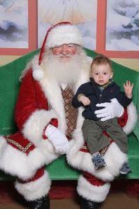 Man and Santa
