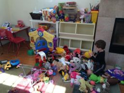 What? I wasn't supposed to empty all of the toy bins at once?